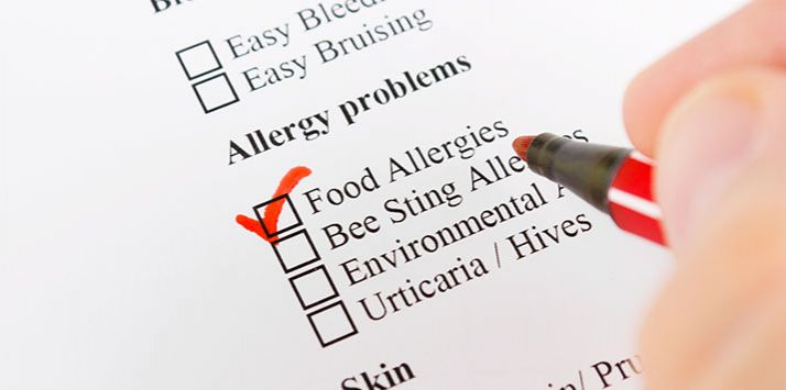 Food Allergies that Surface on the Skin